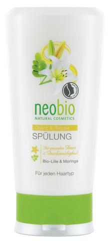 NEOBIO кондиционер для восстановления и блеска волос с био-лилией и морингой