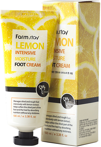 Крем для ног смягчающий с экстрактом лимона FarmStay, 100 мл