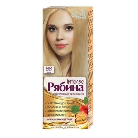 Рябина Intense Крем-краска для волос тон №1000 чистый блонд