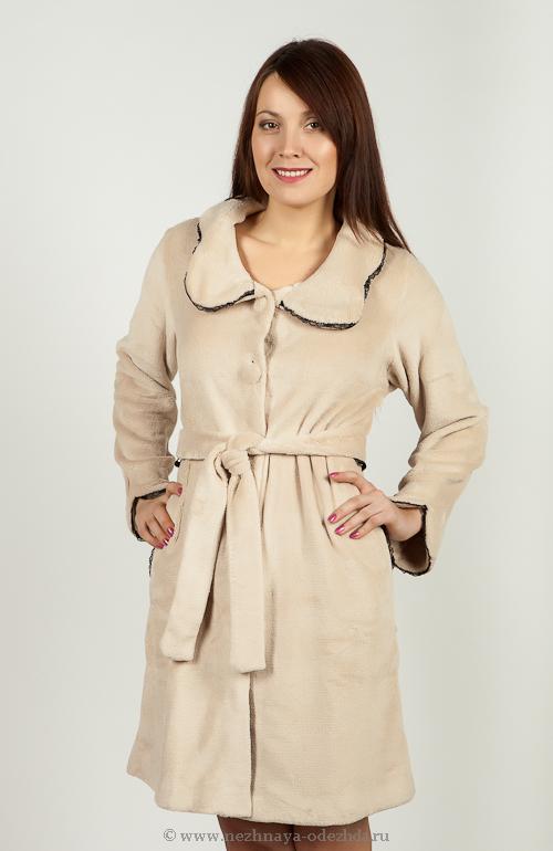 Мягкий халат на пуговицах Pepita