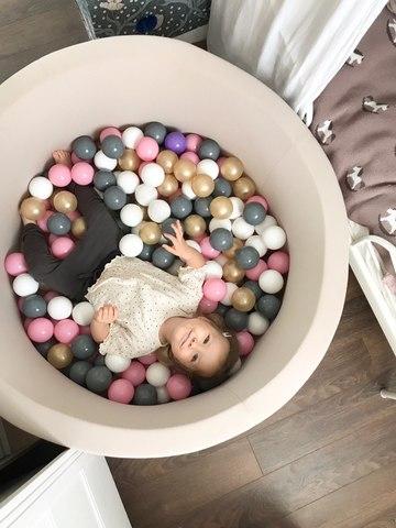 Сухой бассейн Anlipool 100/40см бежевый комплект №12 200 шаров Vanila ice cream
