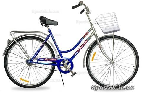 Городской универсальный велосипед для мужчин и женщин Дорожник Комфорт 2015 (сине-серый)