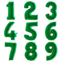 "Цифры 102 см ""Зеленый металлик"""