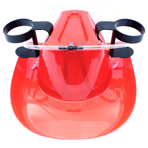 цена на Пивная шляпа с подставками под банки, красная