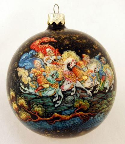 Шар новогодний ( полная роспись) Царские забавы