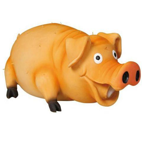 """Trixiе 35499 Игрушка д/собак """"свинья с щетиной"""", латекс 21см"""