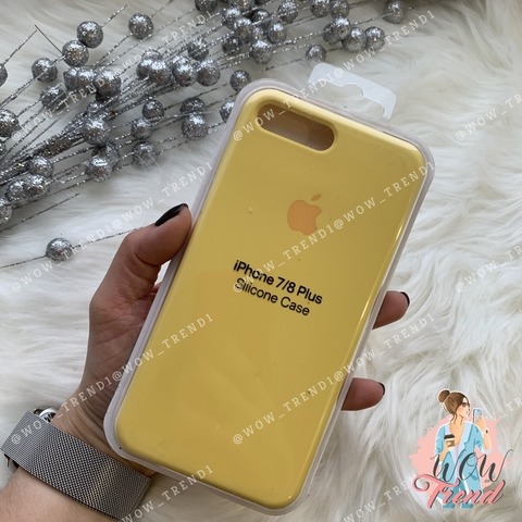 Чехол iPhone 7+/8+ Silicone Case /yellow/ желтый 1:1
