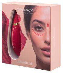 Красный бесконтактный клиторальный стимулятор Womanizer Premium