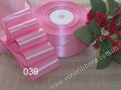 Лента атласная шириной 5см розовая - 039