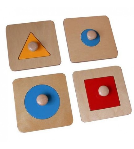 Геометрические рамки-вкладыши, Монтессори-Питер