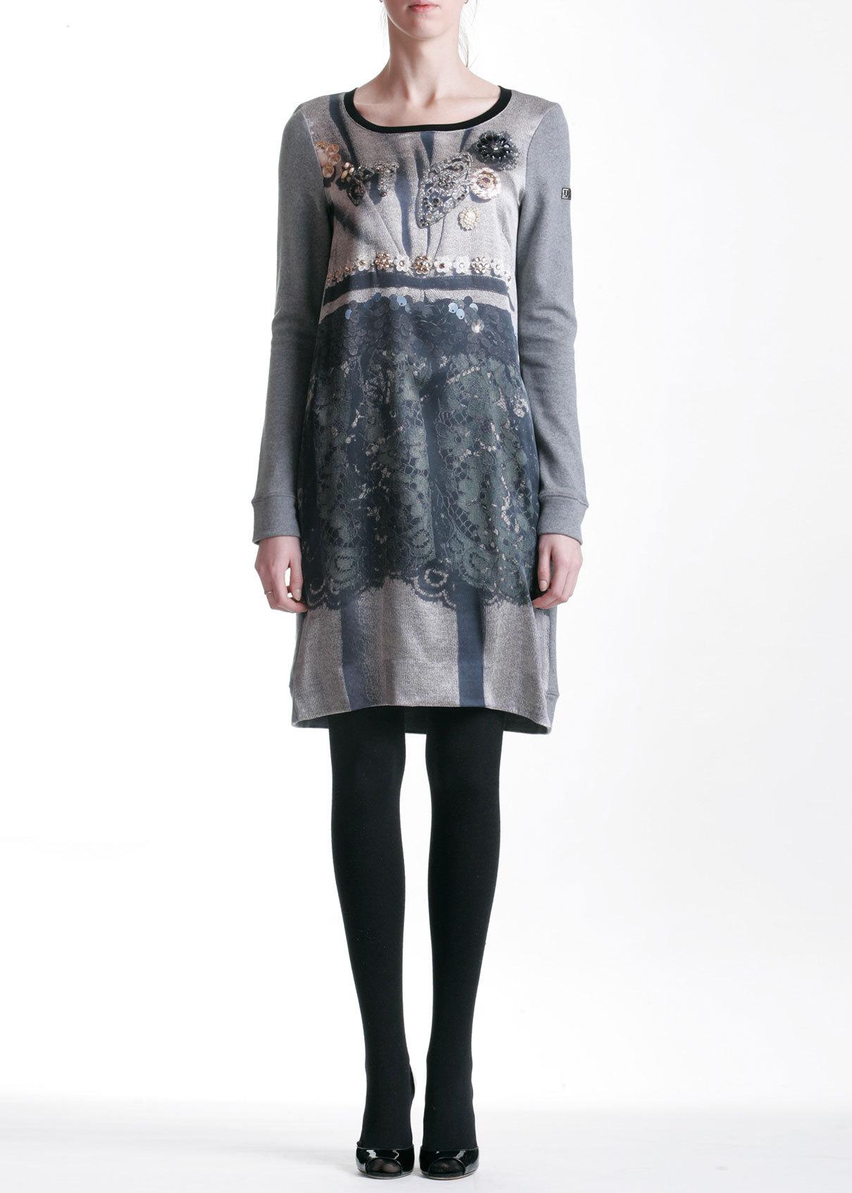Платье из шерсти и шелка VDP