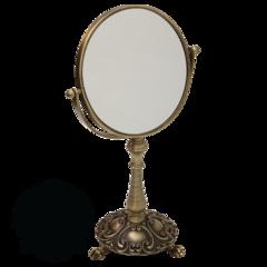 Зеркало оптическое (3х) настодьное  ткань Migliore Elizabetta  ML.ELB-60.118 H38 cm; D18 cm