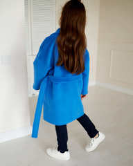 Пальто свободного кроя с поясом