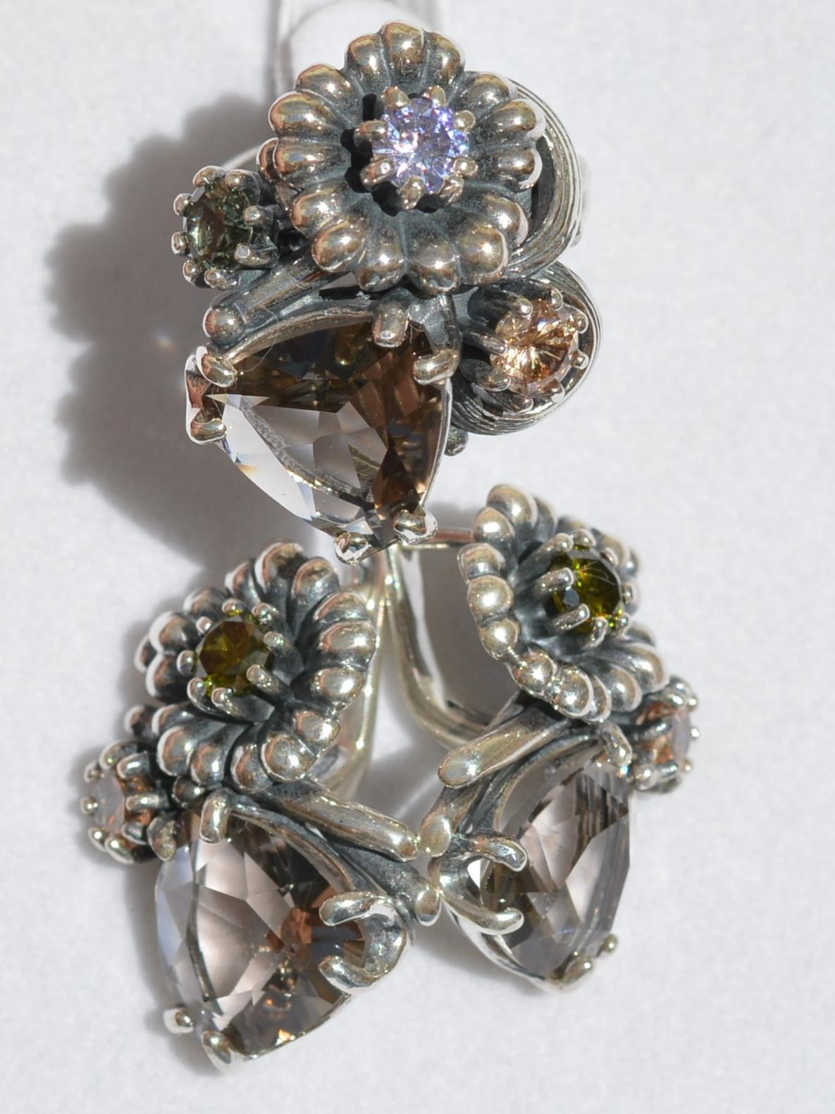 Офелия (кольцо + серьги из серебра)