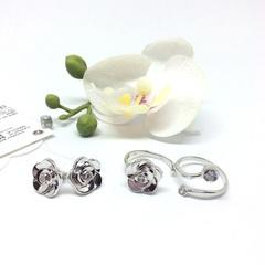 94011885- Разъемное кольцо из серебра с фианитом