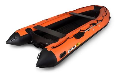 Надувная ПВХ-лодка Солар - 500 Jet Tunnel (оранжевый)