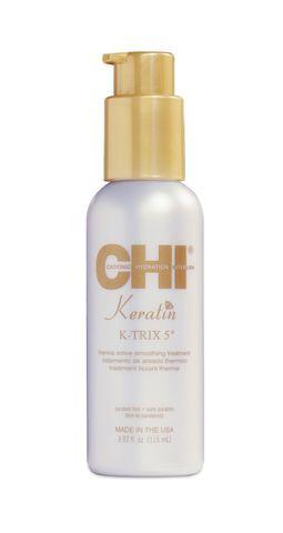 Разглаживающая эмульсия для волос с кератином / CHI Keratin K-TRIX 5  Thermal Active Smoothing Treatment 116мл