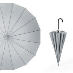 Японский зонт трость 16 спиц AKSISUR серый