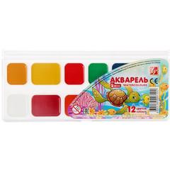 Акварельные краски Луч Zoo медовые 12 цветов (пластиковая упаковка)