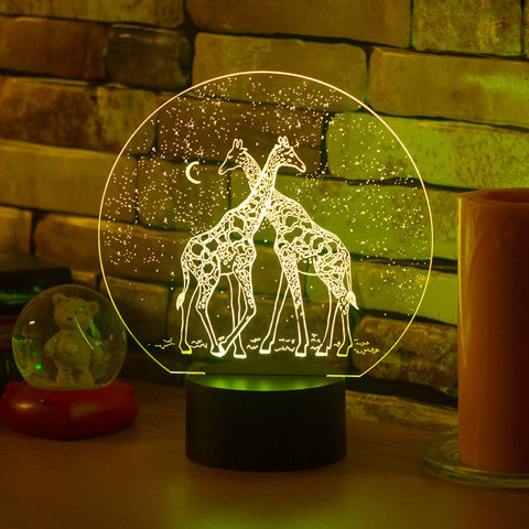Лампа Два жирафа