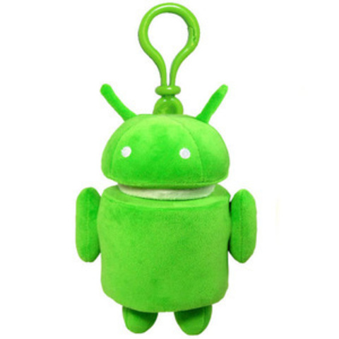"""Плюшевый брелок""""Android""""зеленый"""