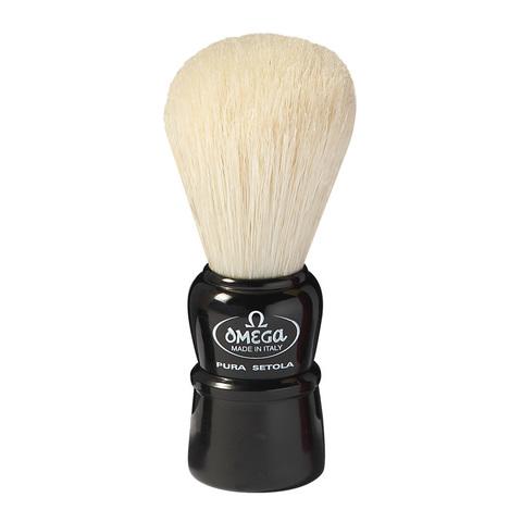 Помазок для бритья натуральный кабан Omega 10086 черный