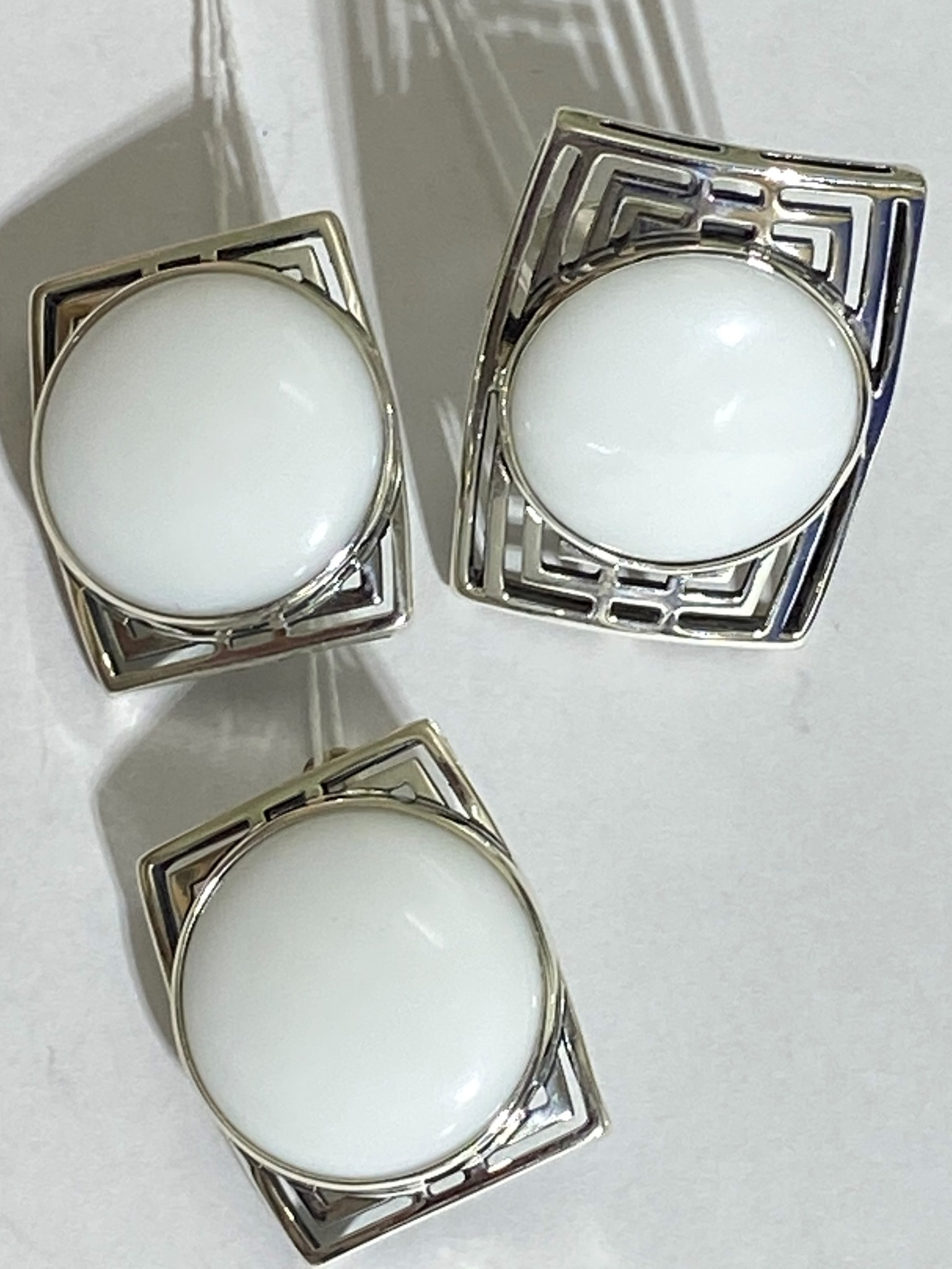 Октагон (кольцо + серьги из серебра)