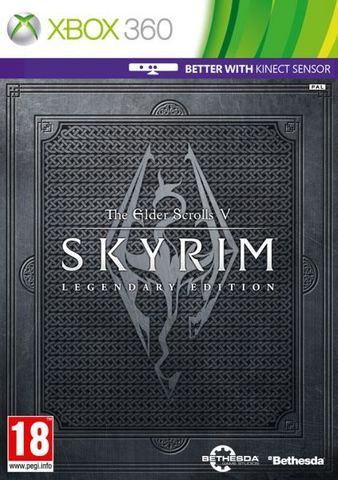 The Elder Scrolls V: Skyrim - Legendary Edition (Xbox 360, с поддержской MS Kinect, английская версия)