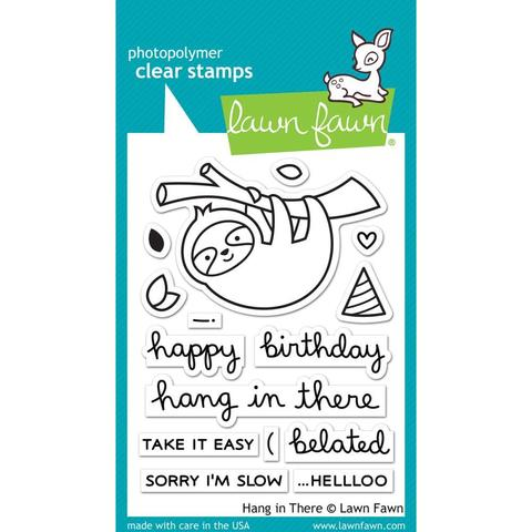 Набор штампов Lawn Fawn Clear Stamps 8х10см - Hang In There