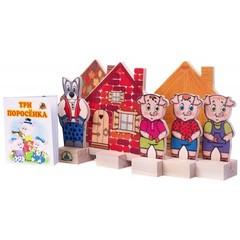 деревянный кукольный театр Три поросенка, Краснокамская игрушка