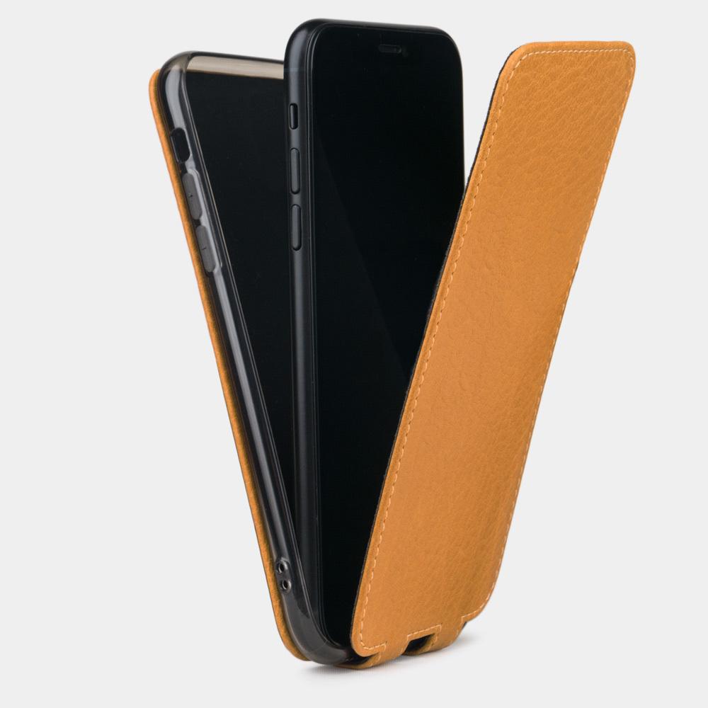 Чехол для iPhone XS Max из натуральной кожи теленка, золотого цвета