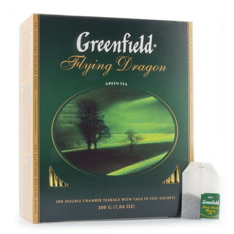 Чай зелёный Greenfield Flying Dragon 100*2г
