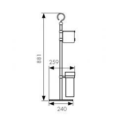 Стойка для ванной комнаты KAISER КН-2610 схема