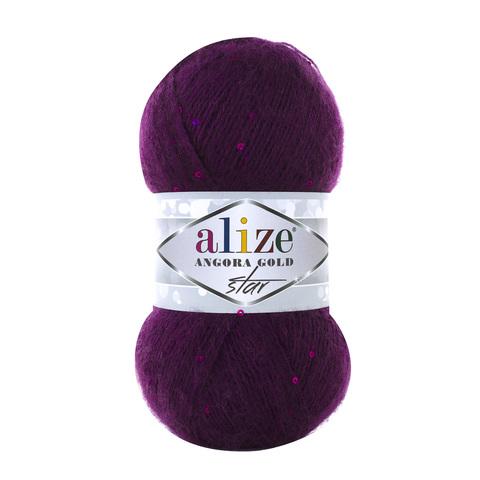Пряжа Alize Angora Gold Star 111 фиолетовый