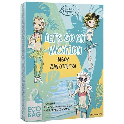 Etude Organix Подарочный набор Let's Go On Vacation Набор для путешествий с холщовой эко-сумкой 116г