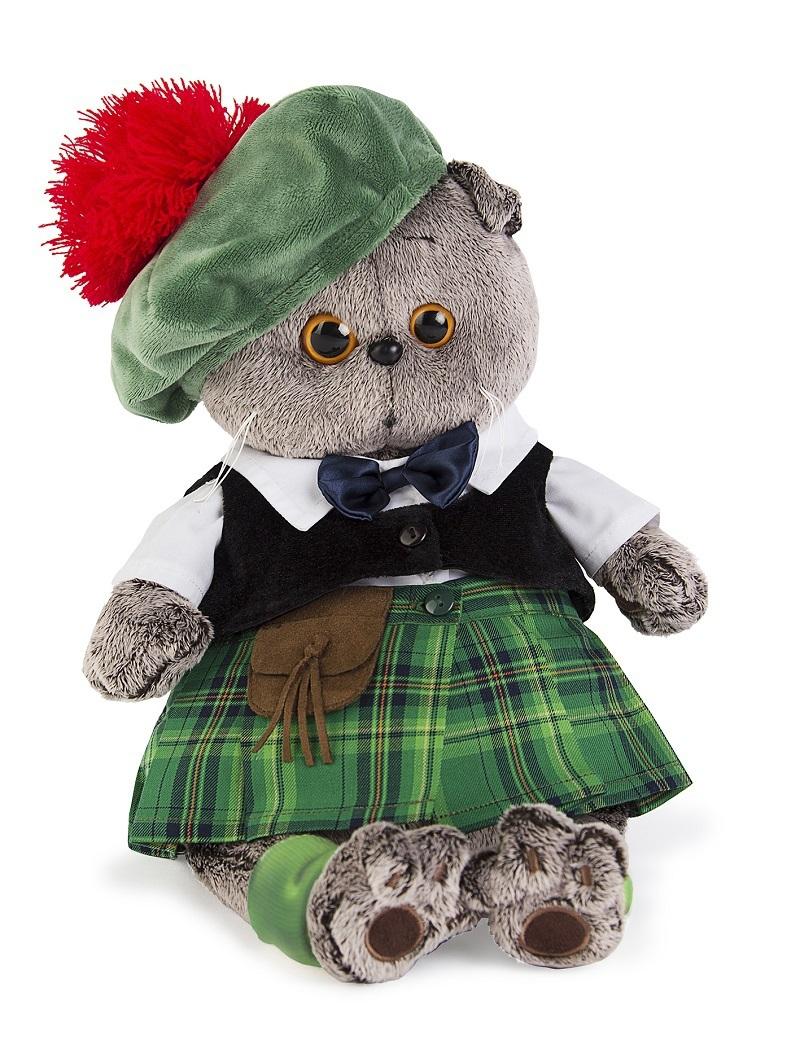 Кот Басик в шотландском костюме