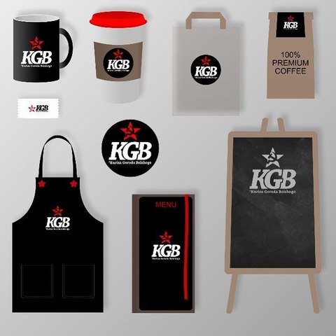 Логотип и фирменный стиль для фастфуда KGB