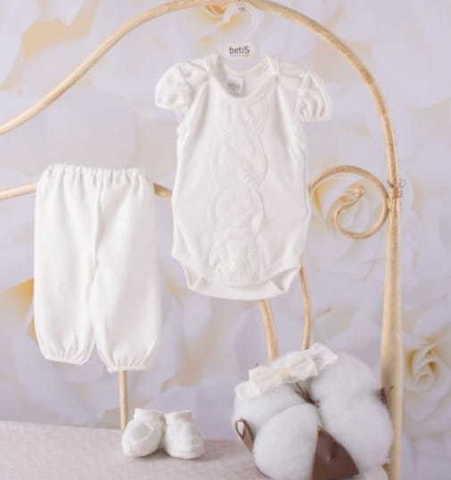 Нарядный костюм на девочку Злата молочный