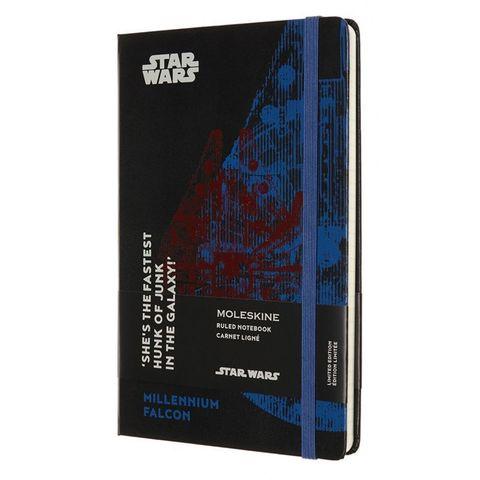 Блокнот Moleskine LIMITED EDITION STAR WARS LESWD01QP060 Large 130х210мм 192стр. линейка твердая обложка черный