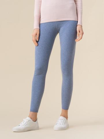 Женские брюки голубого цвета из 100% кашемира - фото 4