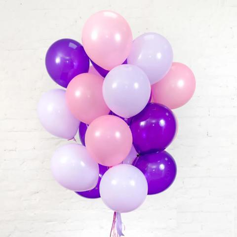 25 шаров 36 см розовый, фиолетовый, сиреневый