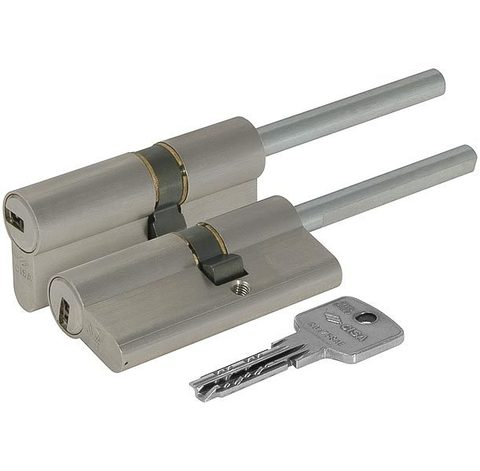 Цилиндровый механизм Cisa (Чиза) под вертушку (дл. шток) ASTRAL ОА317-07.12 (60 мм/25+10+25), НИКЕЛЬ