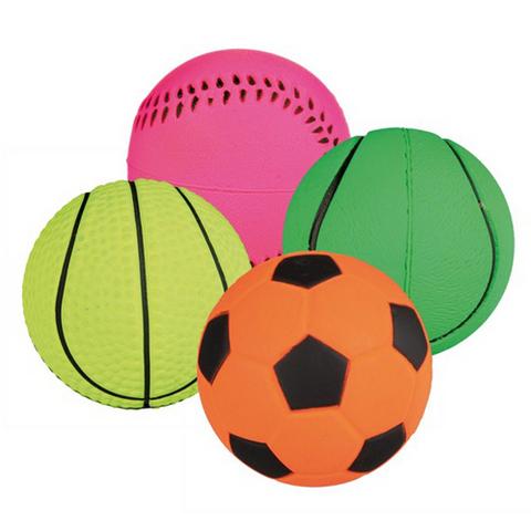 Trixiе 3453 Набор мячей д/собак, мягкая резина ф6см*24