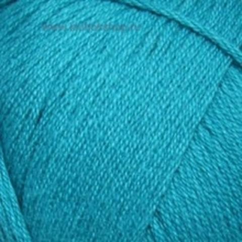 Пряжа Хлопок натуральный (Пехорка) Зеленая бирюза 515