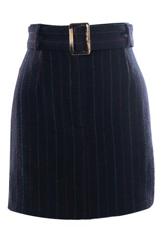 Юбка-мини с поясом «Stripes»
