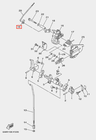 Наконечник тяги для лодочного мотора F20 Sea-PRO (18-19)