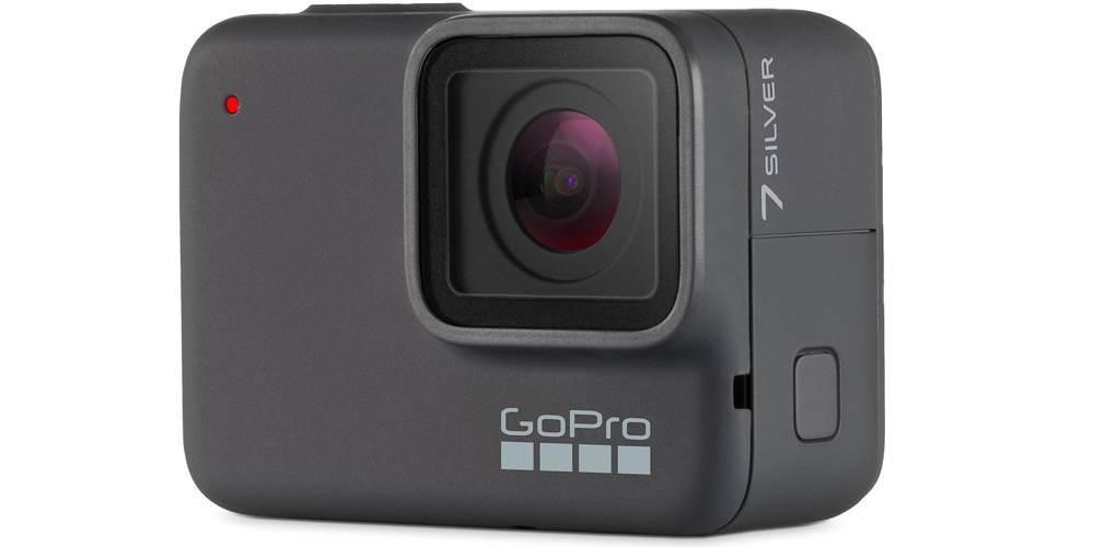 Видеокамера GoPro HERO7 Silver Edition + SD Card (CHDSB-602) вид спереди