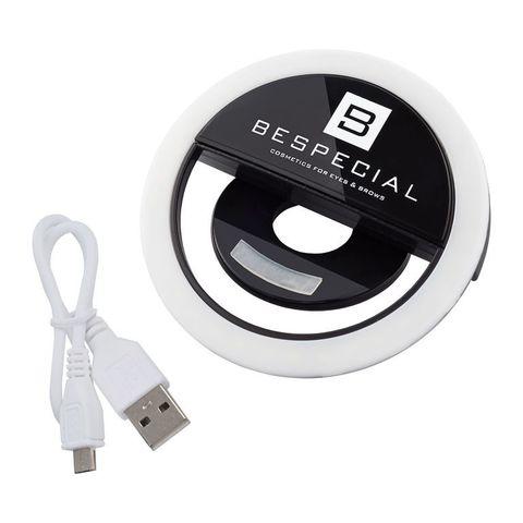 BeSpecial Портативная светодиодная лампа для смартфона,черная.