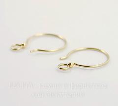 Швензы-крючки с шариком TierraCast 19х14 мм (цвет-золото), Gold filled 14K, пара