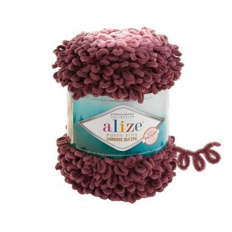 Купить Пряжа Ализе Пуффи Файн Омбре Батик - цвет 7276 | Интернет-магазин пряжи «Пряха»